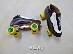 12M Riedell 395 Speed / Jam Skates Power Trac Plates, Bones Swiss, NEW WHEELS