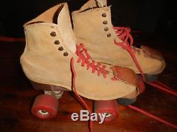 1980 Vintage Riedell 130L size 8 Ladies Brn Suede Pro-Jet City Rollers