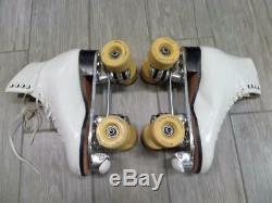 220 vintage RIEDELL roller skates SUREGRIP womens 6.5 white