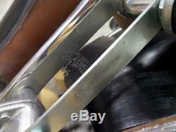 220W vintage RIEDELL roller skates SUREGRIP mens 8 black