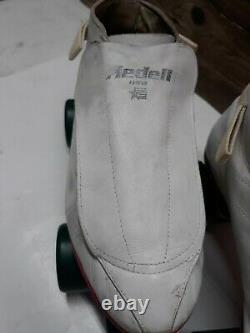 47-4 vintage Riedell Speed /Jam Derby Skates, hyper cannibal wheels m8 w10 rare