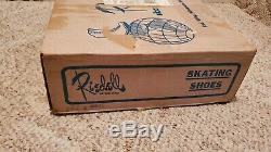 70s Vintage Riedell White Skating Shoes Red Wing, Minnesota 55066 Sz 6 NEW RARE