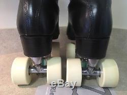 ArtIstic Riedell Roller Skate Boot 7.5 297 / Rolline Dance Plates / Bones Wheels