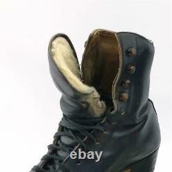 Atlas Roller Skates Roll Line Wheels Size M6 Dt Riedell Boot Vintage Black