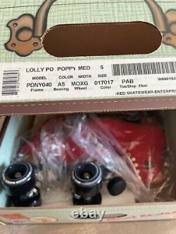 BRAND NEW Mens Size 5 Moxi Lolly Roller Skates Poppy SHIPS IMMEDIATELY