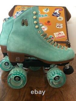BRAND NEW Moxi Lolly Roller Skates Floss Blue Mens Size 6 SHIPS IMMEDIATELY