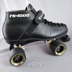 Black RS1000 Riedell Speed Skates Carrera Wheels Mens Low Boot Sz 9 Competition