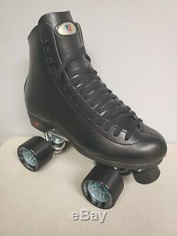 Brand New Riedell 120 Leather Boot Roller Skates Mens Size 13