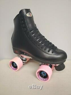 Brand New Riedell 120 Leather Boot Roller Skates Mens Size 7.5