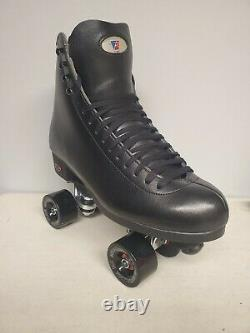 Brand New Riedell 120 Leather Boot Roller Skates Mens Size 8.5