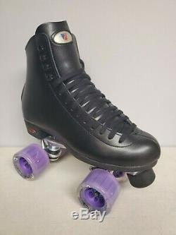 Brand New Riedell 120 Leather Boot Roller Skates Mens Size 9