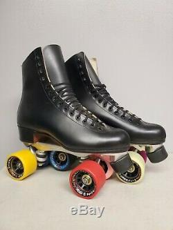 Brand New Riedell 220 Leather Boot Roller Skates Mens size 7