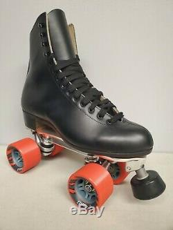 Brand New Riedell 220 Leather Boot Roller Skates Mens size 7.5