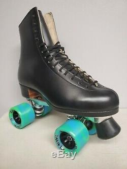 Brand New Riedell 375 Leather Boot Roller Skates Mens Size 8