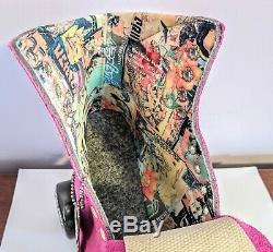 Brand New in hand Size 7 fuschia Moxi Lolly roller skates