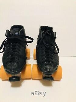Carrera Speed Roller Skate Black Size 8 105B with SureGrip Hyper Wheels & Case
