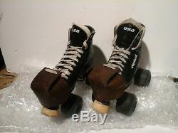 Classic RIEDELL black roller skates mens size 6