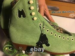 DISCONTINUED COLOR Moxi LOLLY Honeydew 7 Green Roller Riedell Skates W 8.5 / 8