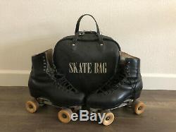Douglas Synder Custom Built Rollerskates Riedell Boots Powell Bones SZ 10-1/2 11