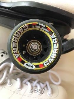 EUC Riedell Carrera Speed Skates Complete skates white, size 8