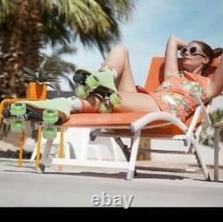 Gorgeous Reidell Suede Honeydew Moxi Lolly Roller Skates size 8(9-9.5)cute