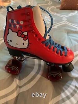 Hello Kity Riedell Moxi Roller Skates NIB RARE Size Women 8 New Free Ship