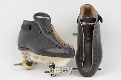MINT 7.5 Riedell 595 Boots Vintage Laser Plates Roller Skates Jam Derby Speed