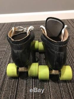 MINT Mens Size 10 Riedell 595 Vintage Laser Plates Roller Skates Jam Derby Speed