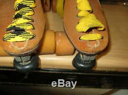 Men/Women RIEDELL Old School Suede Skates sz 7/8 Heel to toe `9 7/8 in