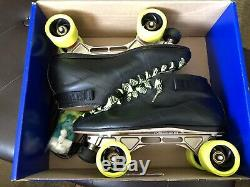 Mens Riedell 595 Quad Speed Skates Size 12 1/2 Arius Ceramic Turbo Roller Bones