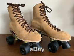 Mens Riedell Suede Roller Skates 9/ Women size 11. Heel to toe 12