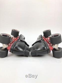 Mens Riedell rs-1000 Roller Skates USA SZ 9 Black Sunlite Trucks Carrera Wheels