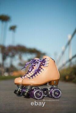 Moxi Beach Bunny Peach Blanket Roller Skates Size 10 (w11-11.5) Riedell Ready