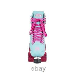 Moxi Beach Bunny Roller Skates Blue Sky Size 10 (w11-11.5)x Impalla Riedell Sure