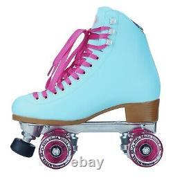 Moxi Beach Bunny Roller Skates Blue Sky Size 5 (w6-6.5) Riedell READY NOW