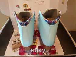 Moxi Beach Bunny Roller Skates Blue Sky Size 7 (w8-8.5) Riedell IN STOCK
