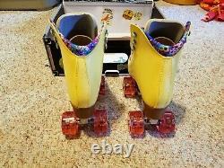 Moxi Beach Bunny Roller Skates Lemonade Yellow Size 7 (8-8.5) Riedell IN STOCK