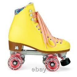 Moxi Beach Bunny Roller Skates Lemonade Yellow Size 8 (9-9.5) Riedell IN STOCK