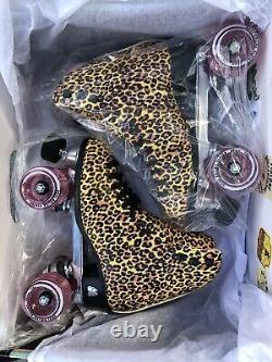 Moxi Beach Bunny Roller Skates Leopard Size 8 (W 8.5 9.5)- READY TO SHIP