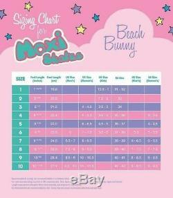 Moxi Beach Bunny Roller Skates, Peach Blanket, Size 6 (Ladies 6.5-7)