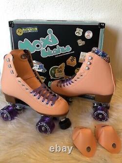 Moxi Beach Bunny Roller Skates Peach Size 7 (Womens Size 8.5-9.5) Riedell Lolly