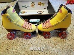 Moxi Beach Bunny Roller Skates Strawberry Lemonade Size 5 (6-6.5) READY TO SHIP