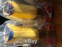 Moxi Beach Bunny Roller Skates'Strawberry Lemonade' Size 7