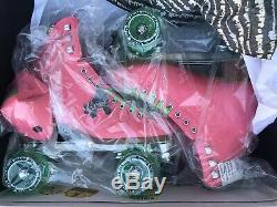 Moxi Beach Bunny Roller Skates Watermelon Size 5 (5.5-6) + Toe Guards