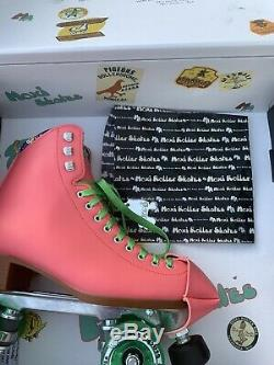 Moxi Beach Bunny Roller Skates Watermelon Size 8/W Size 9 Includes Original Box