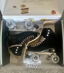 Moxi Black Panther Skate Sz 4-Fits Womens Size 5-5.5 + 8 Pink Frost Moxi Wheels