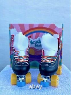 Moxi Black Rainbow Riders Riders Roller Skates Size 10, Women Size 11 11 1/2 NEW