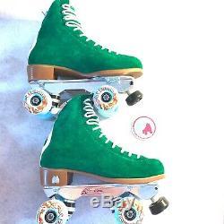 Moxi Jack Pro Roller Skate Size 5 Mens/7 Womens Avanti Aluminum Plate Dyed Green