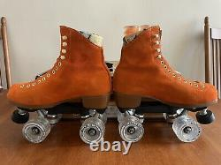 Moxi Lolly Clementine Orange Roller Skates Size 6 (W 7-7.5) with Extra Accessories