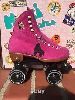 Moxi Lolly Fuschia Roller Skates Size 5 (5.5 6.5) READY TO SHIP